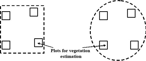 Layout examples of plots for estimation in the territory of PLPs
